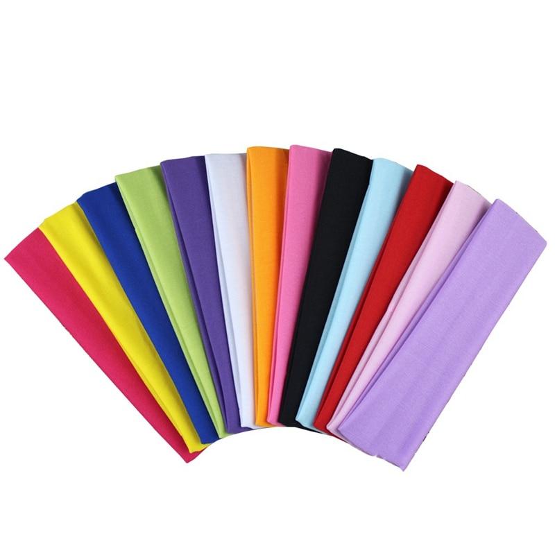 Yoga Hair Bands Sport Elastic Headband Sports Yoga Accessory Dance Biker Wide Headband Stretch Ribbon Cotton Hairband