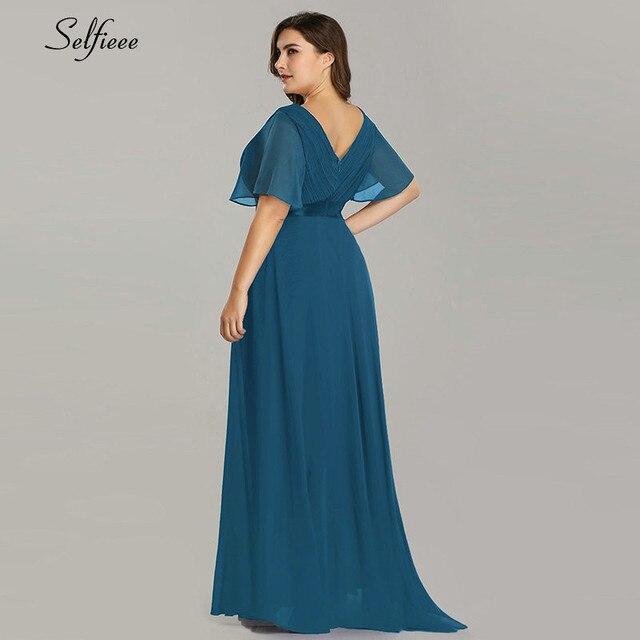 Plus Size Dresses For Women 4xl 5xl 6xl New Beach Long Summer Dress Elegant V Neck Chiffon Party Dress Night Robe Longue Boheme 3