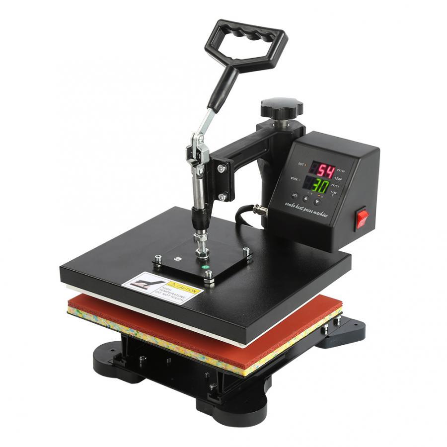 Ручной цифровой термопресс высокого давления с двойным дисплеем, гидравлическая печатная машина для футболок EU AU US Plug
