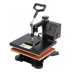 Máquina de prensado en caliente Digital de pantalla Dual de alta presión, impresora Manual de camisetas, máquina de impresión de camisetas hidráulica, enchufe europeo AU US