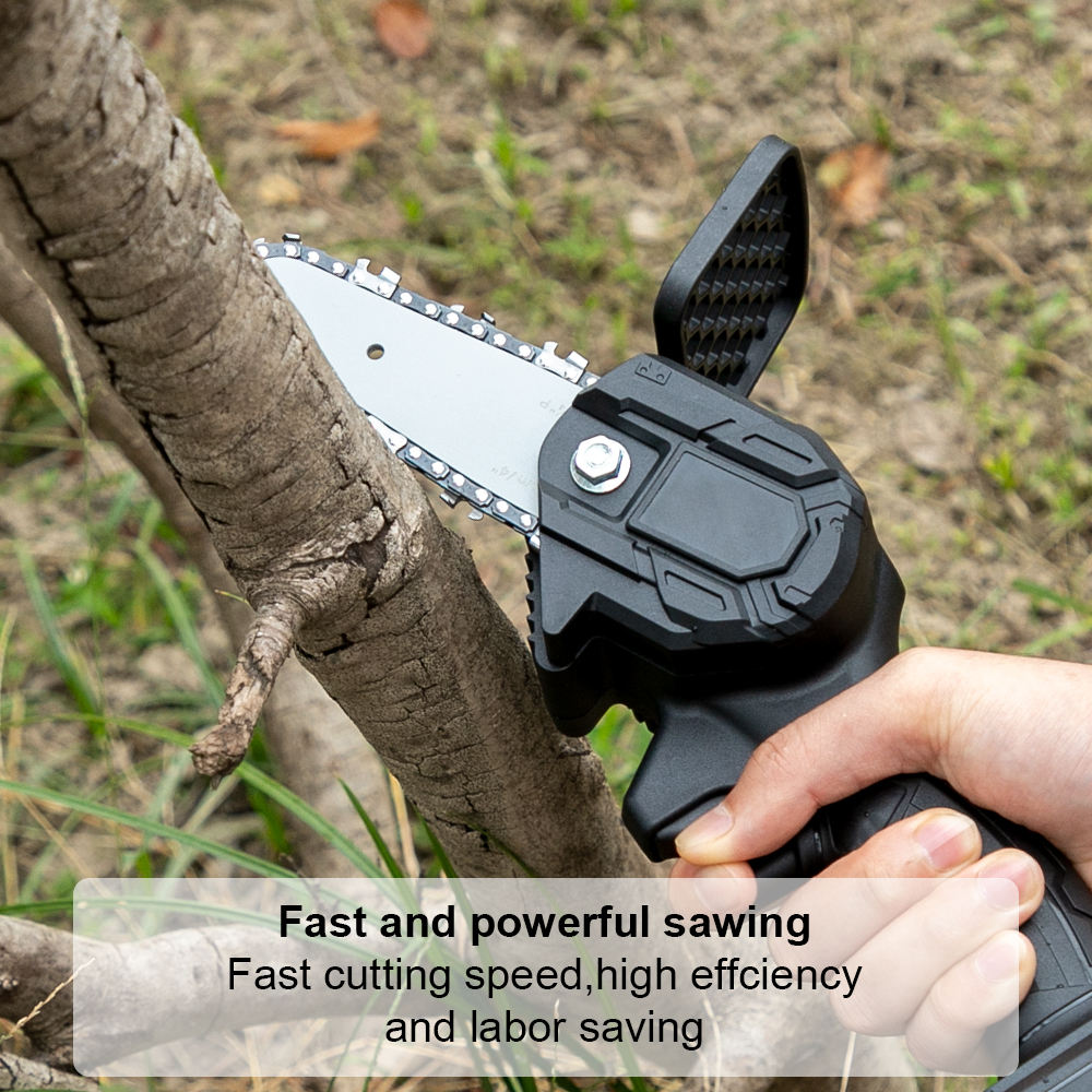 Garden Cutting Chain Saw Battery Lithium Mini Saw Wood Tree Pruning Trimming Logging With Electric For ChainSaw 24V Cordless