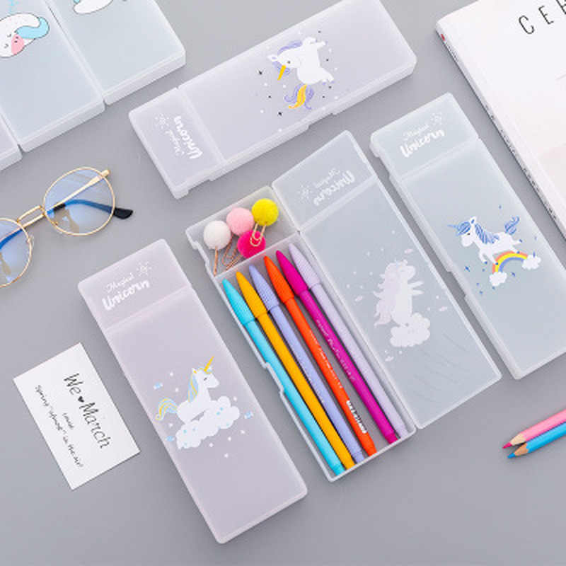 1pcs Unicorn Pen Case Novelty Kawaii  Kawaii Bag High Capacity  Pencil Pouch Student Stationery  Pencil Bag School Supplies