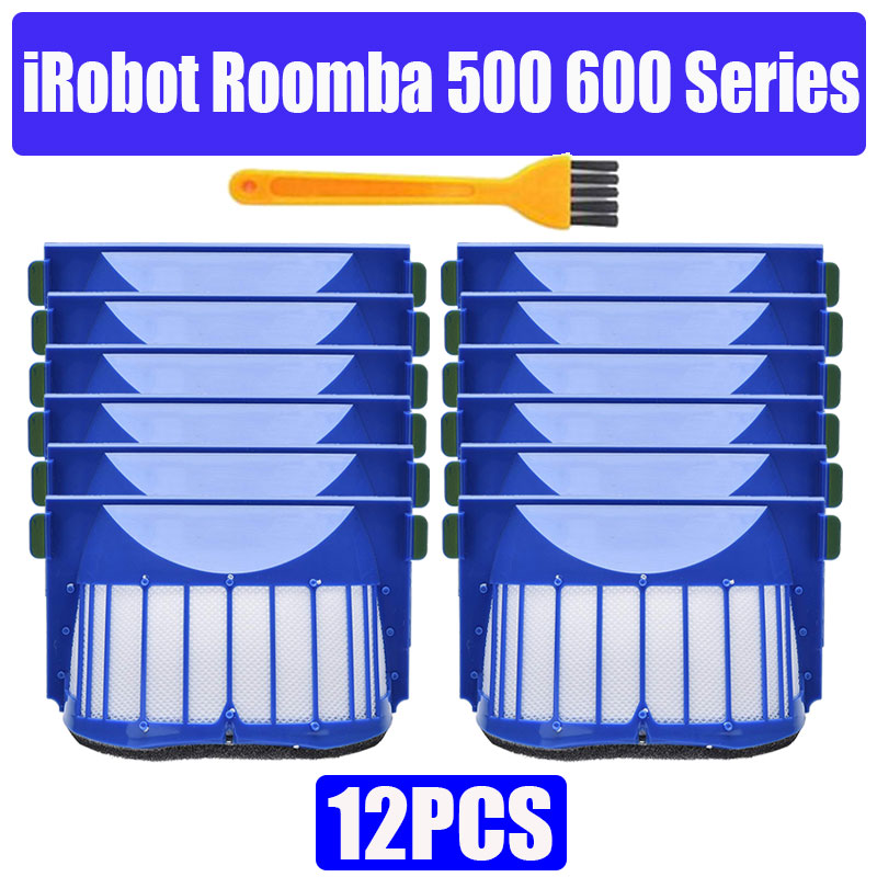 HEPA Brush Filter Replacement For IRobot Roomba 500 600 Series 536 550 551 620 650 Vacuum Cleaner Parts Accessories