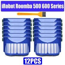 Hepa substituição do filtro de escova para irobot roomba 500 600 series 536 550 551 620 650 aspirador peças acessórios