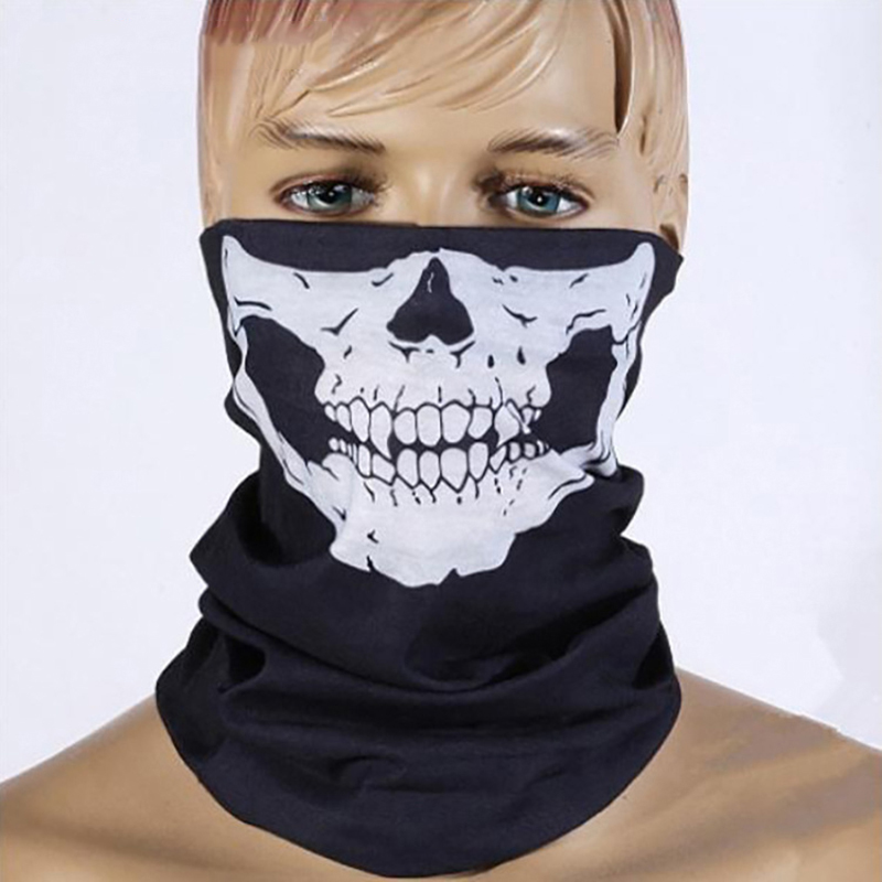 Summer Cycling Face Mask Skull Ride Running Scarf Headwear Outdoor Motorcycle Bicycle Half Face Mask Caps Multi Purposes