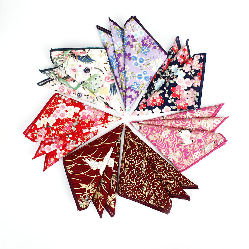 Cotton Handkerchief New 25x25cm Printing Flower Paisley Pocket Squares Fashion Vintage SuitS Pocket Towel Hanky For Men