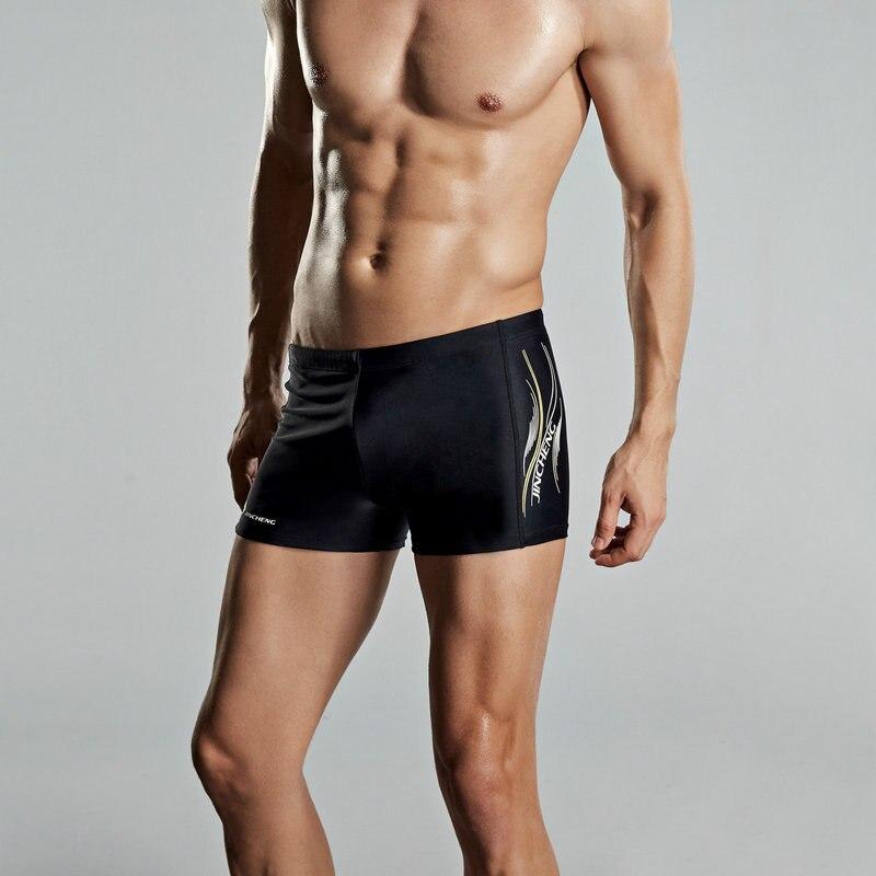 Jin Cheng 2019 New Style Men Brand Swimming Trunks Guangzhou Bathing Suit Manufacturers Chinlon Hot Springs AussieBum