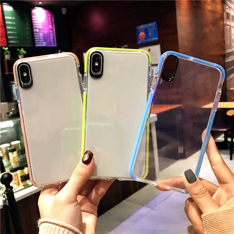 Dual Layer Drop proof Clear Case for Samsung Galaxy A10 A20 A20E A30 A40 A50 A70 M10 M20 S10 S8 S9 Plus S10e Soft Silicone TPU