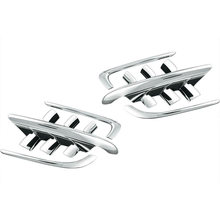 Motorcycle Chrome Shark Gills Fairing Accents Decoration Parts for Honda Goldwing GL1800 2001-2010 1 Set 6 Pcs(China)