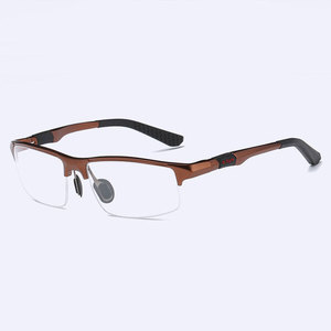 Image 4 - 3121 Optical Eyeglasses Frame for Men Eyewear Prescription Glasses Half Rim Man Spectacles Alloy Frame Eyeglasses