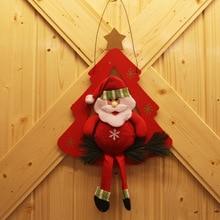 2019 new Christmas decorations Santa Claus door hanging Holiday gift props