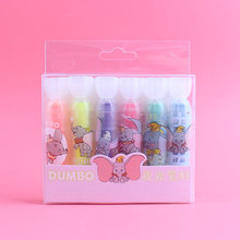 4 set/Lot Cute elephant highlighter pen Luminous color marker liner 1 4mm paper fax copy Stationery Office School supplies A6717