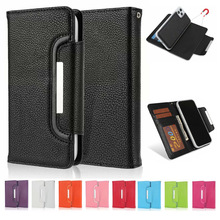 For iPhone 11 Pro Max Case Litchi Pattern 2 in 1 Detachable Folio Magnetic Closure PU Leather Wallet Case for iPhone 11 Pro / 11
