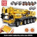 Высокотехнологичный кран на дистанционном управлении MOULD KING, 13107, 2590 шт., Радиоуправляемый автомобиль, инженерные модели, строительные блоки...