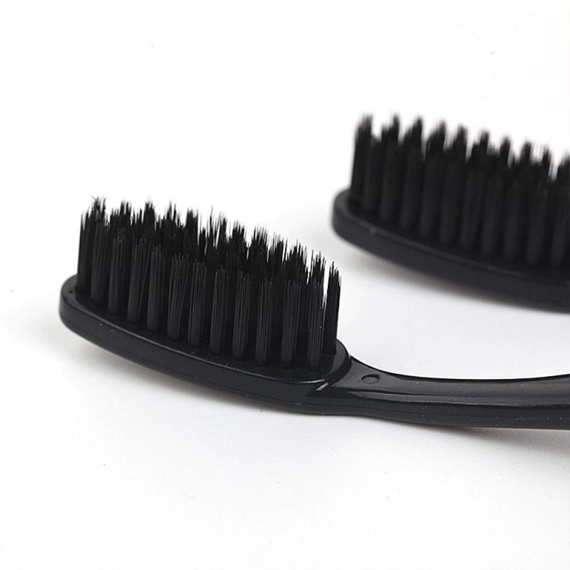 10 Pcs Family Suit Toothbrush Fiber Soft Bamboo Charcoal Adult Deep Clean Care Gums Fine Hair Home Unisex Healthy Teeth Brushes