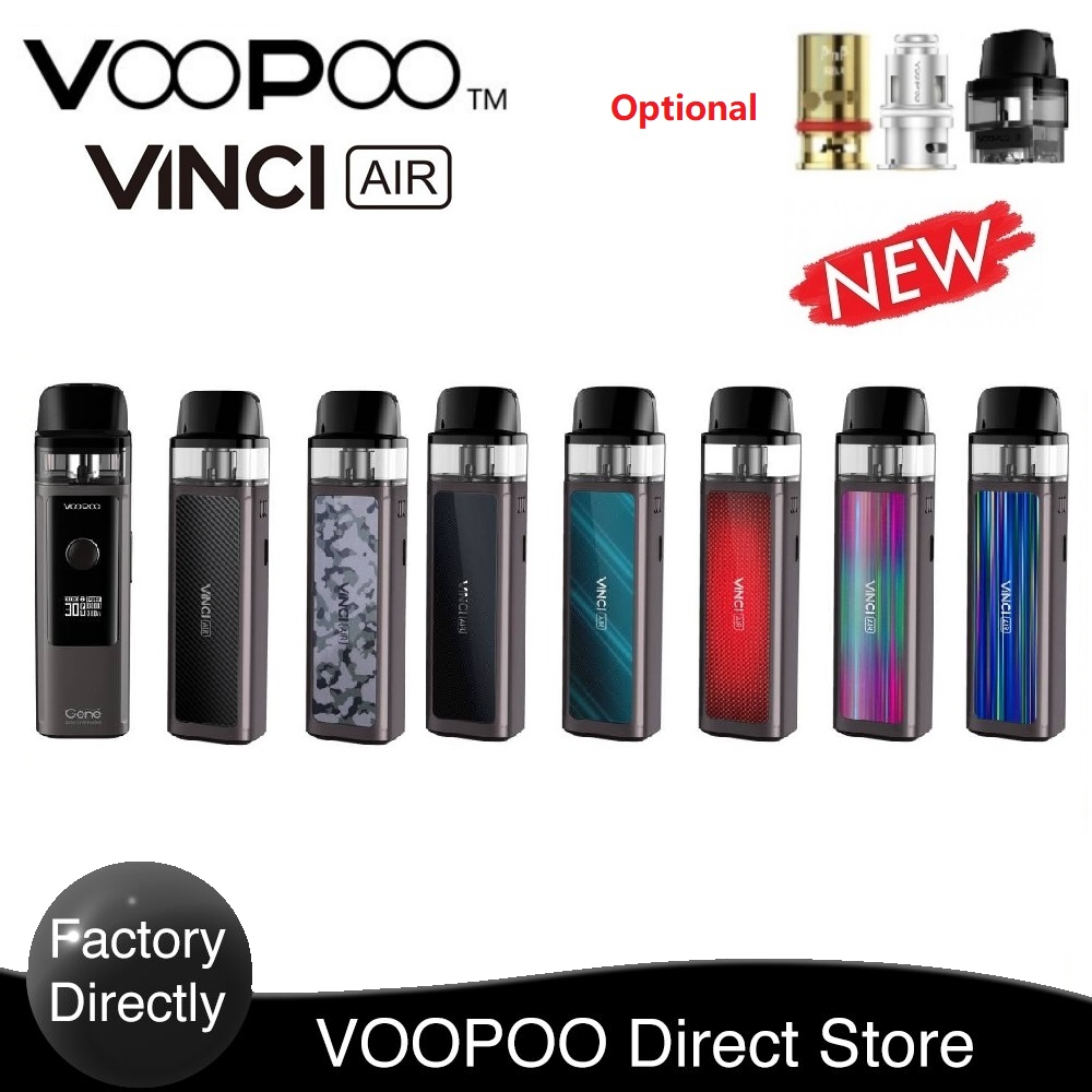 Hot Vape Kit Original VOOPOO VINCI AIR Pod Kit 900mAh Wi/ 4ml Pod Rba Coil Built-in ENE.AI ChipBest E-cig  VS Vinci/Vinci X Mod