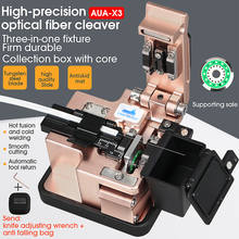 AUA-X3 High Precision Fiber Cleaver FTTH Cable Fiber Optic Cutting Knife Tools Cutter Three-in-one clamp slot 24 Surface Blade