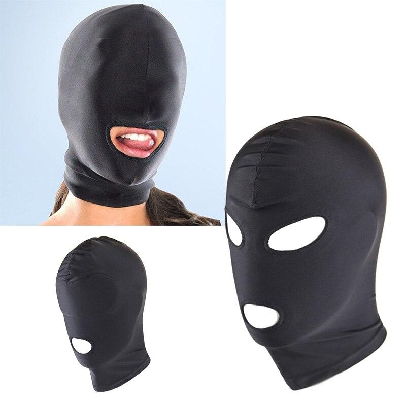 Balaclava elástica adulta, 1/2/3 orifícios unissex, para olhos, máscara, fantasia, escravo jogo de papel do jogo jogo
