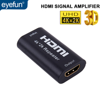 eyefun HDMI signal amplifier signal repeater booster Mini 1080P 4K * 2K hdmi extension repeater 3D HDMI adapter signal booster
