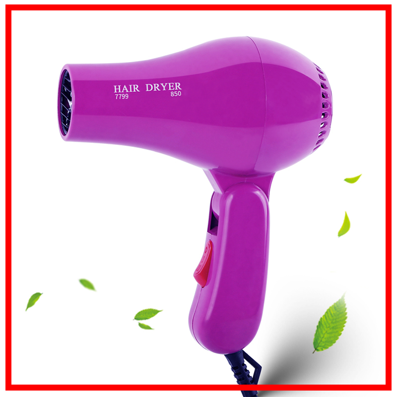 Foldable Portable Mini Hair Blow Dryer 850W Traveller Hair Dryer Compact Blower Power EU Plug 220V