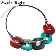 Женское красочное акриловое ожерелье для женщин геометрические