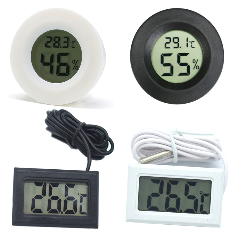 Высокая точно цифровым термометром и гигрометром декоративные часы для метр для рептилия, черепаха Террариум аквариум аксессуары Температура влажности