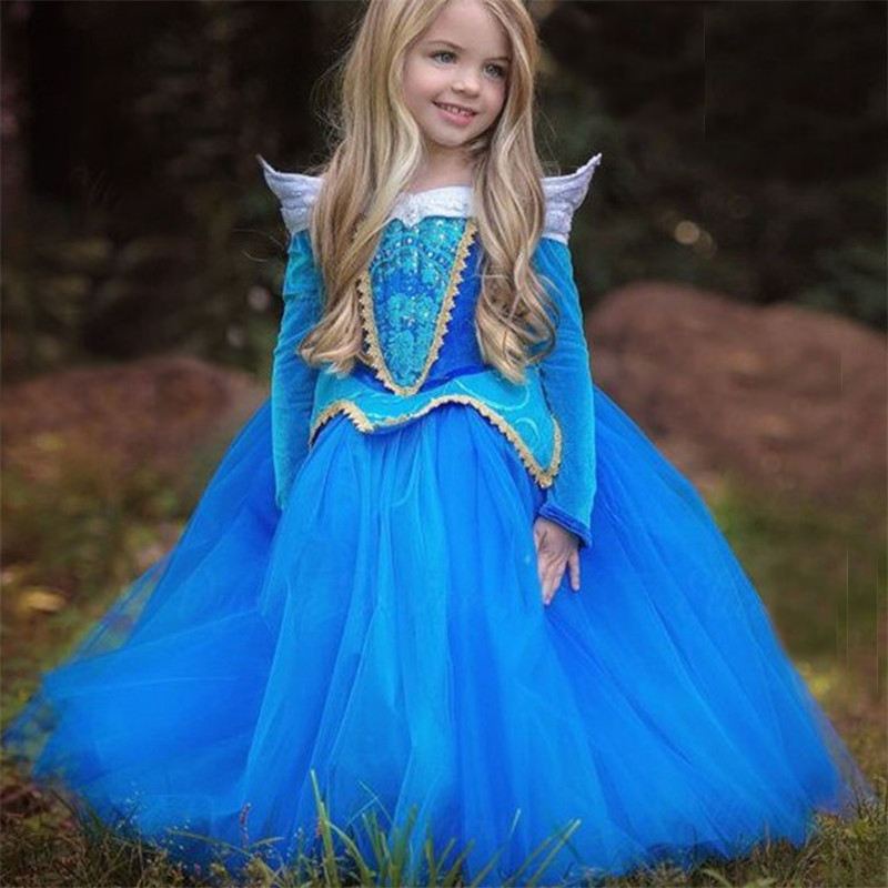 Fancy Princess Dress For Girls Halloween Cosplay Dresses Dress Up Costume Children Party Clothes 2