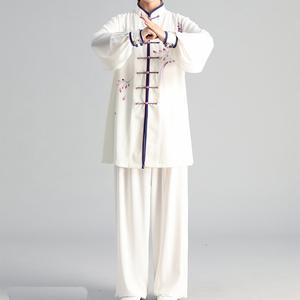 Image 3 - New Tai Chi Chinese Dress Set for Women Kung Fu Chinese Traditional Clothings Clothes for Women Hand painted Plum Wushu Uniform