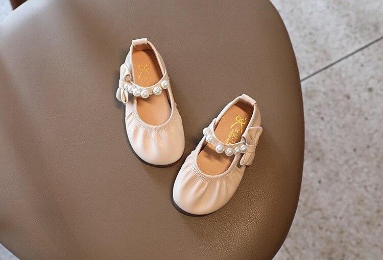 2021 crianças arco sapatos de couro crianças