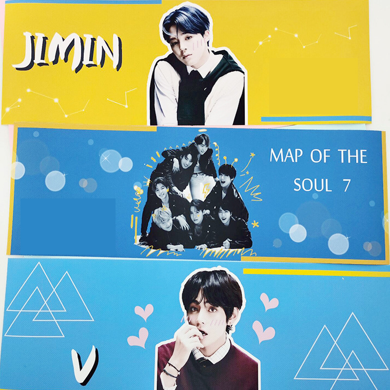 KPOP Bangtan Boys Map Of The Soul 7 Wall Banner JUNG KOOK JIMIN JIN SUGA J-HOPE Support Banner Boy With Luv Fans Collection