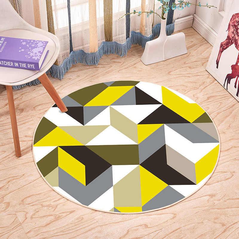 Rund Druck Schlafzimmer Wohnzimmer Veranda Krabbeln Decke Kaffee Tisch Boden Matte Non-slip Fußmatte Teppich Kann Angepasst Werden
