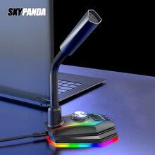Máy Tính USB Micro RGB Căn Cứ HD Card Âm Thanh Với Loa Jack Tai Nghe Giá Rẻ Ổ Giảm Tiếng Ồn Xoay Đầu Thu