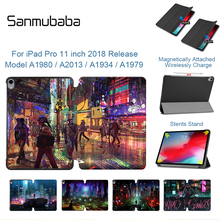 Sanmubaba For iPad Pro 11 inch Tablet Case A1934 A1979 A1980 A2013 Slim PU Leather Flip Stand Smart Cover Protective Funda
