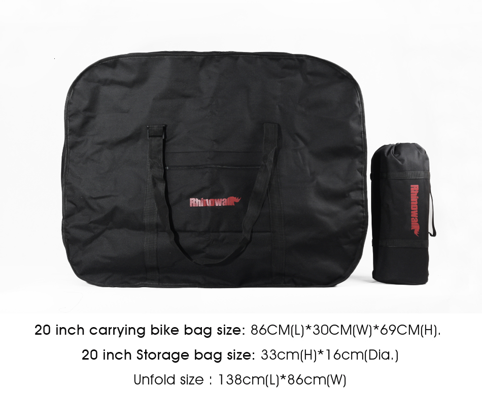 Best Rhinowalk 14 inch 20 inch Folding Bike Bag Loading Vehicle Carrying Bag Pouch Packed Car Thickened Portable Bicycle Pack 14
