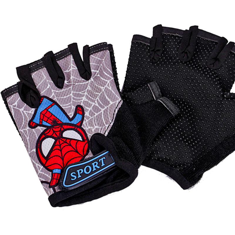 Купить с кэшбэком 2PCS Cycling Gloves Kids Summer Half Finger Bicycle Gloves Breathable Cartoon Bike Gloves Boys and Girls Outdoor Sport Gloves