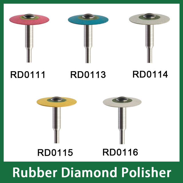 Size 19mm X 2mm Dental Laboratory Rubber Diamond Polisher 2.35mm for Low Speed Handpiece