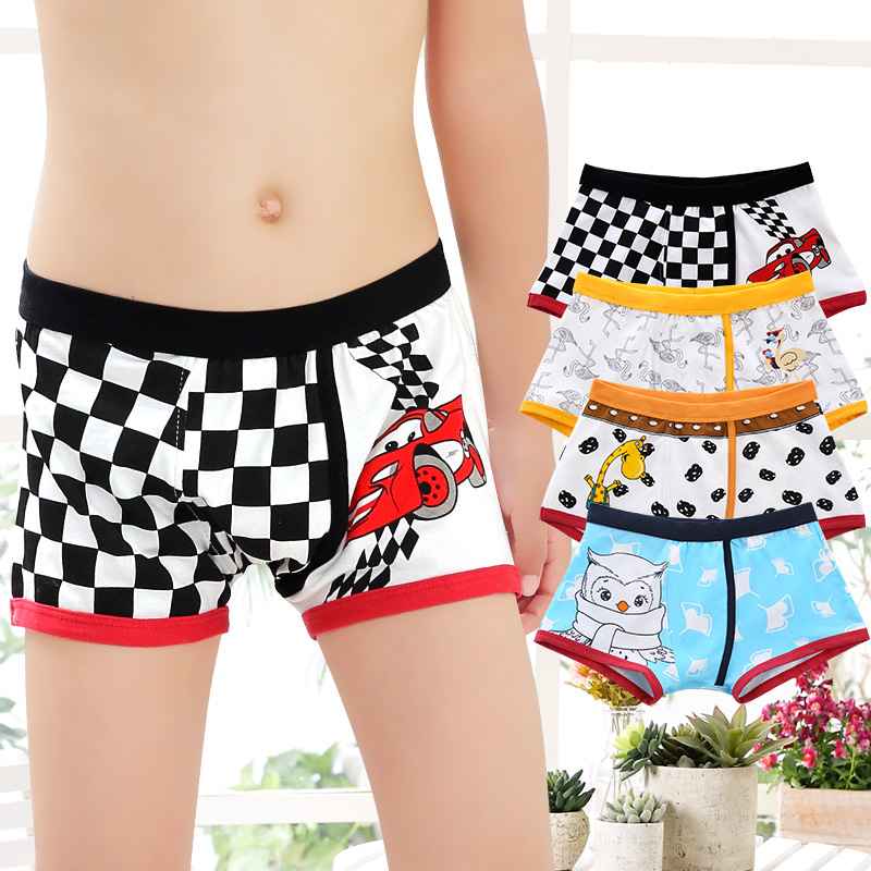 Mens 2-Pack Boxer Briefs Polyester Underwear Trunk Underwear with Doodle Plaid Design