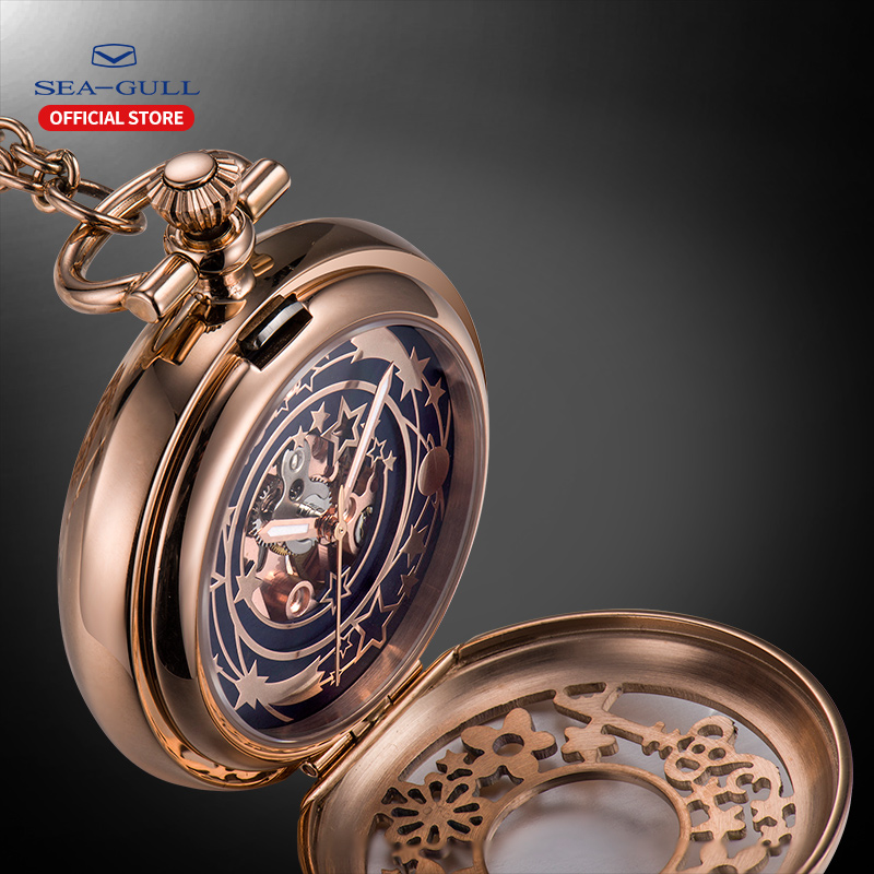 Seagull Pocket Watch Ladies Watches 2019 Mechanical-watch Automatic Watch Watch Men Luxury Brand Rose Gold Watch 556.95.1000LK