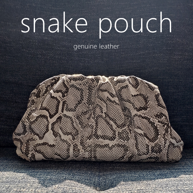 2020 Fashion Designer Women Bags Snake Pouch Serpentine Clutch Ladies Handbag Cloud Bag Genuine Leather Luxury Brand Style