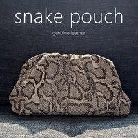 2020 fashion designer women bags snake pouch Serpentine clutch ladies handbag cloud bag genuine leather luxury brand style