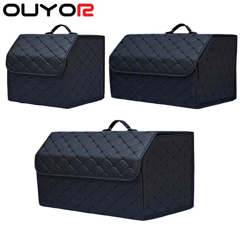 Многофункциональный складной органайзер для багажника автомобиля с крышкой, Портативная сумка для хранения автомобиля, органайзер для баг...