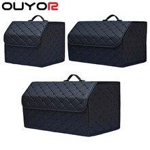 Organisateur de rangement de coffre de voiture pliable multi-usages, sac de rangement Portable avec couvercle, organisateur de coffre de voiture