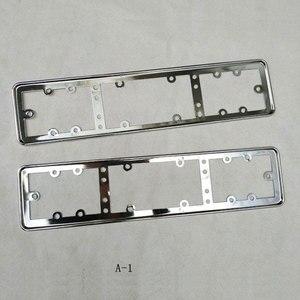 Металлическая рамка для автомобильного номерного знака ЕС, держатель номерного знака, 2 шт.