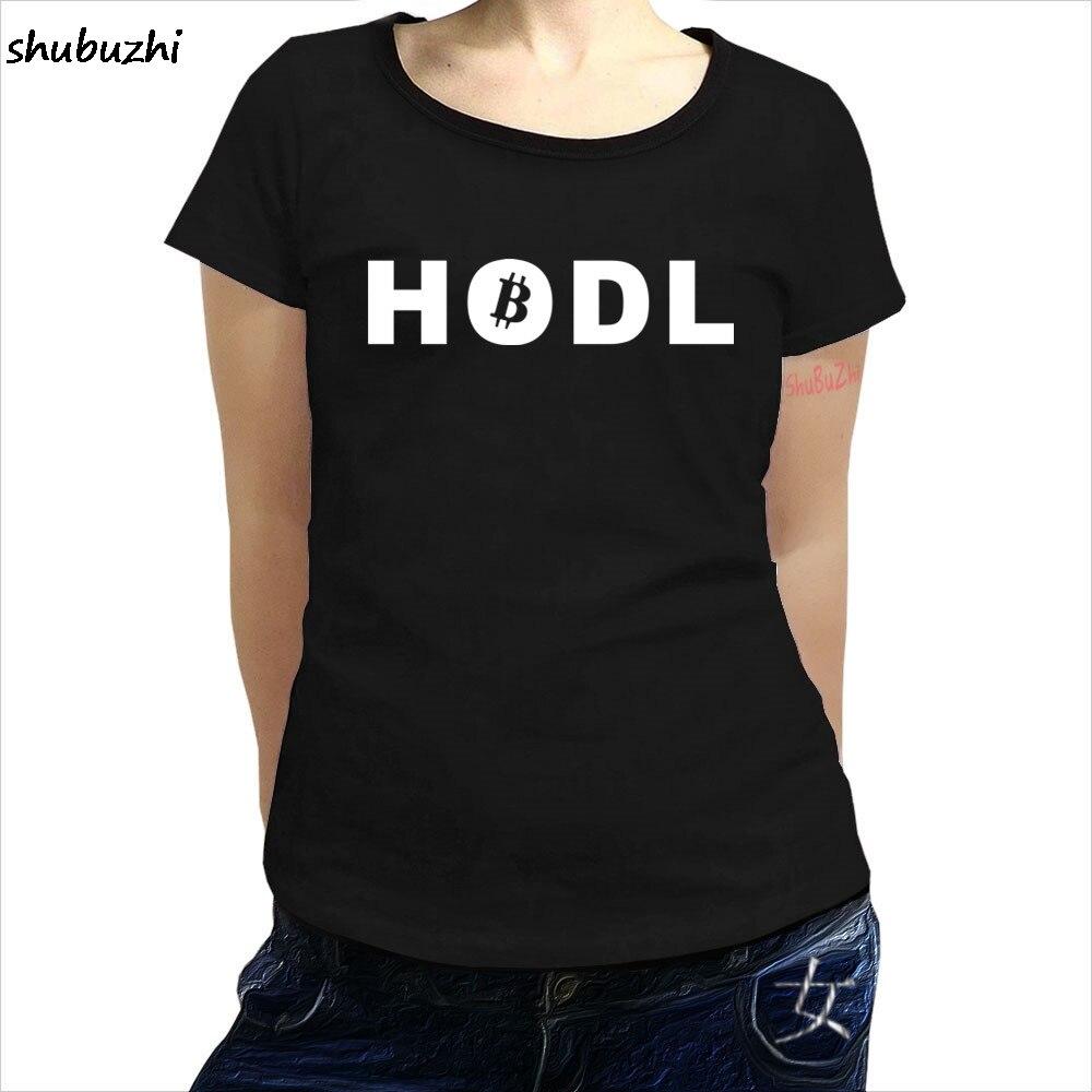 Bitcoin HODL women t shirt - Crypto Currency Satoshi Trading Lambo Moon - FREE POSTAGE brand top tees new cotton tshirt sbz3368 1