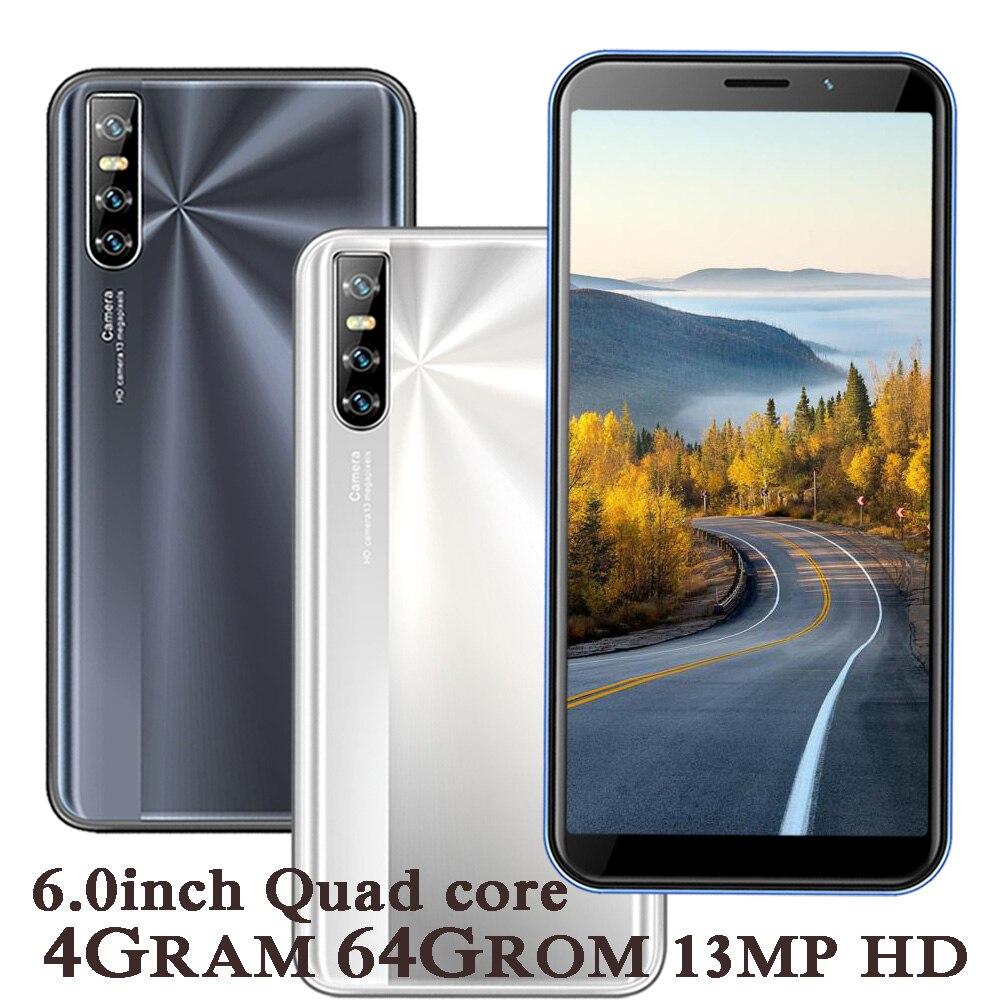 9X 4G RAM Smartphones 64G ROM Voller Bildschirm Quad Core MT6580 Android Handy 6,0 zoll 13MP HD kamera Gesicht Entsperrt Handy