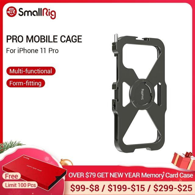 SmallRig Pro נייד כלוב עבור iPhone 11 פרו Vlogging אבזר טלפון נייד כלוב עם קר נעל הר Vlog ערכת ירי 2471