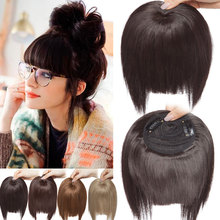 SNOILITE clip in fringe hair extension fake hair bangs synth