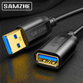 SAMZHE USB 3,0 удлинитель для мужчин и женщин USB3.0 2,0 удлинитель для ПК ТВ PS4 компьютера ноутбука удлинитель данных шнур