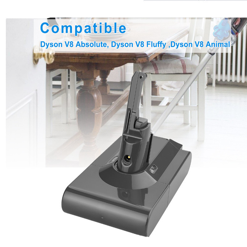 6800mAh 21.6V Battery For Dyson V8 Battery for Dyson V8 Absolute FluffyAnimal Li ion Vacuum Cleaner rechargeable Battery &6.8