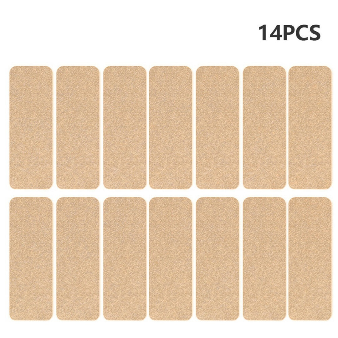 14Pcs Carpet Stair Tread Pads Anti Slip Stair Floor Mat Protection Cover Step Staircase Soft With Sticky Bottom 55*20cm Reusable